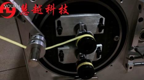 自动包胶机操作视频