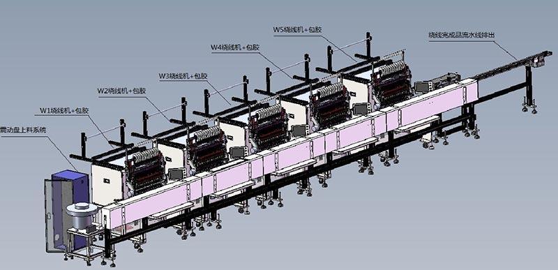 五绕组绕线机流水线EE16变压器全自动生产线